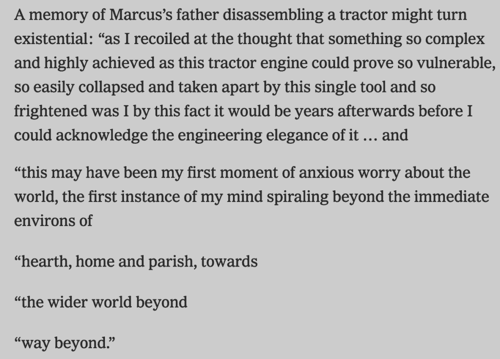 A memory of Marcus' father for Writing Prompts