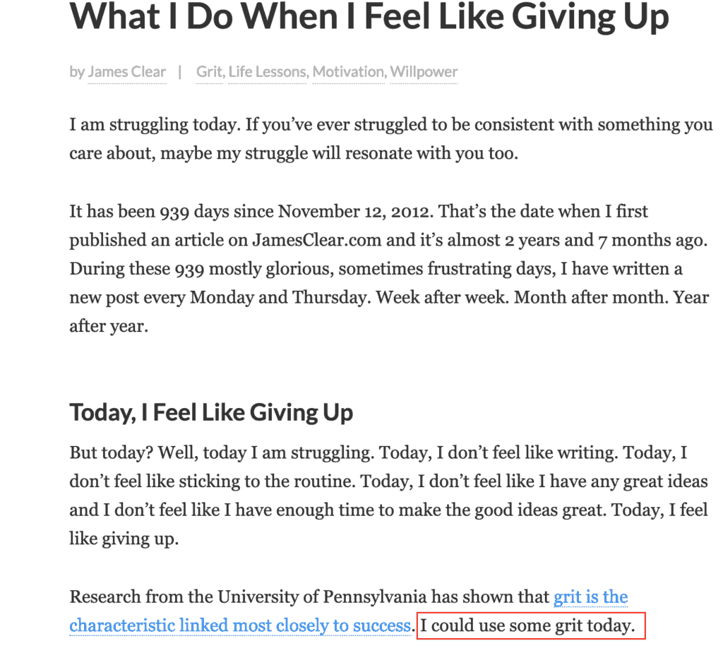 What do I do when I feel like giving up?