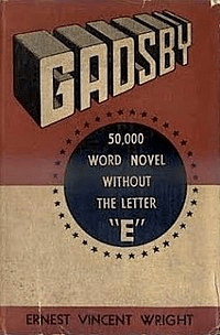 """Gadsby"" book cover"