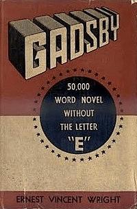 """Gadsby"" book cover"