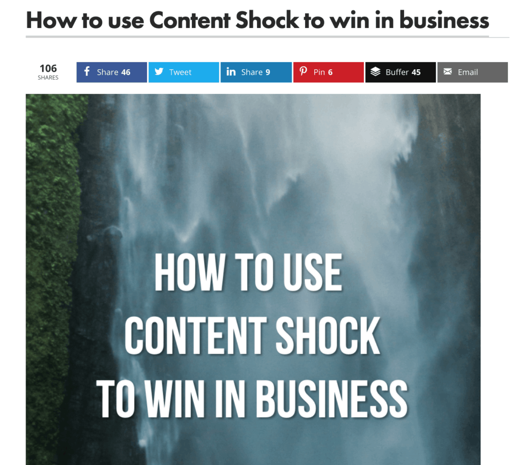 How to use content shock to win in business
