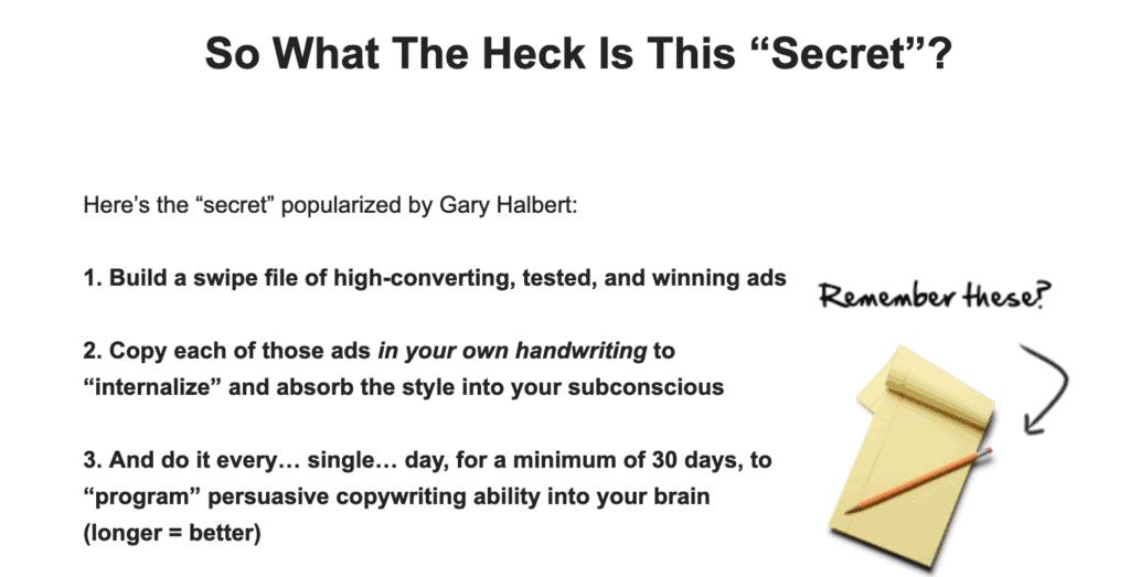 'Secret' to persuasive copywriting ability
