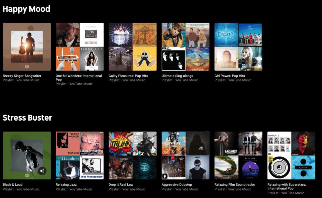 Spotify mood playlists