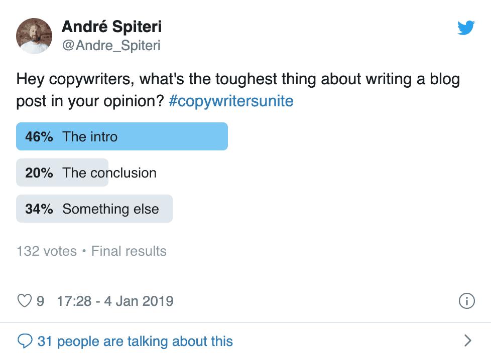 Andre Spiteri tweet