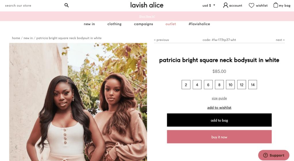 PatriciaBright's page on the Lavish Alice Website to make money on YouTube