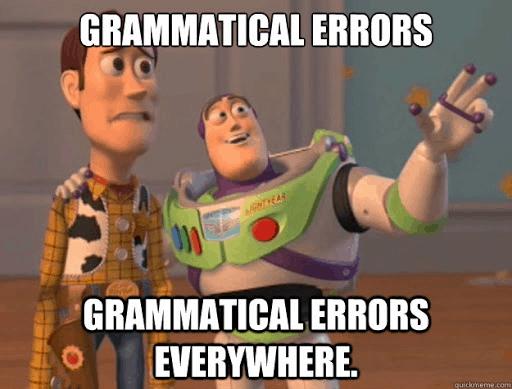 Grammatical errors meme
