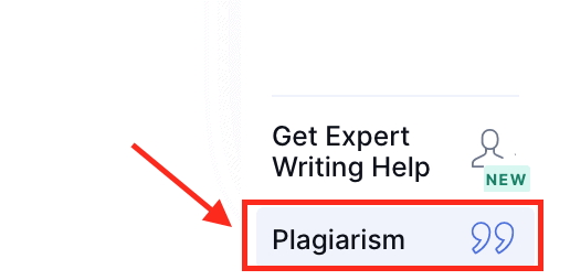 Plagiarism check on Grammarly