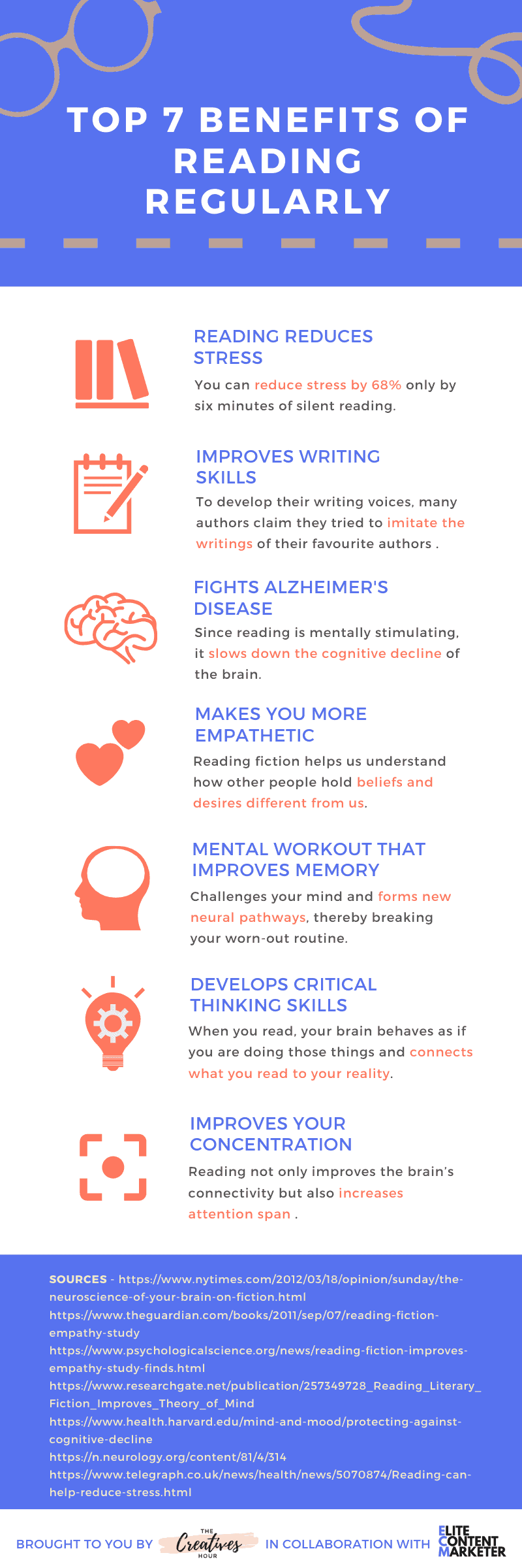 benefits of reading infographic