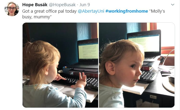 Your child as a work pal