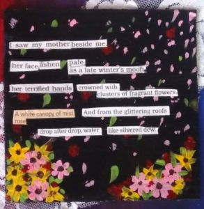 Ransom Note Poetry done from magazine and textbook cutouts