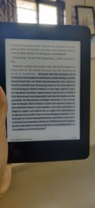 Kindle depicting George Orwell's 1984