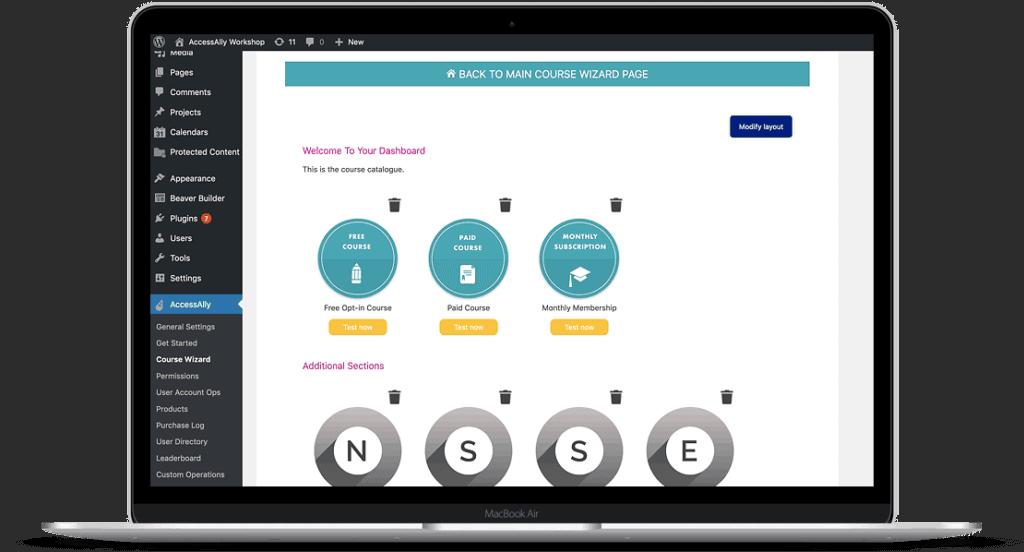 AccessAlly dashboard for creators