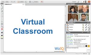 WizIQ virtual classroom page