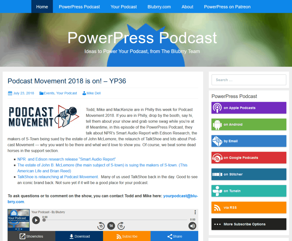 Powerpress Podcast plugin