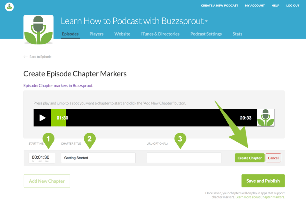 Creating episode chapter markers