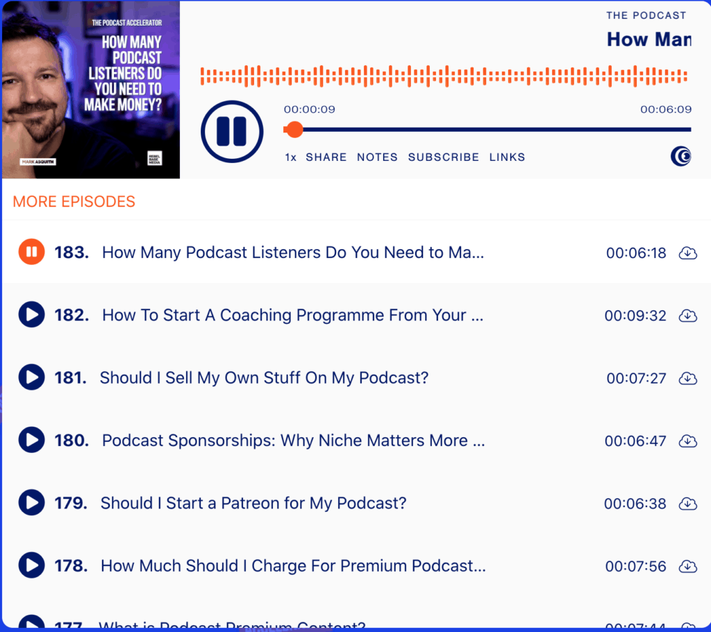 How many podcast listeners do you need to make money