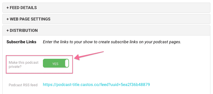 Distribution and Subscription links