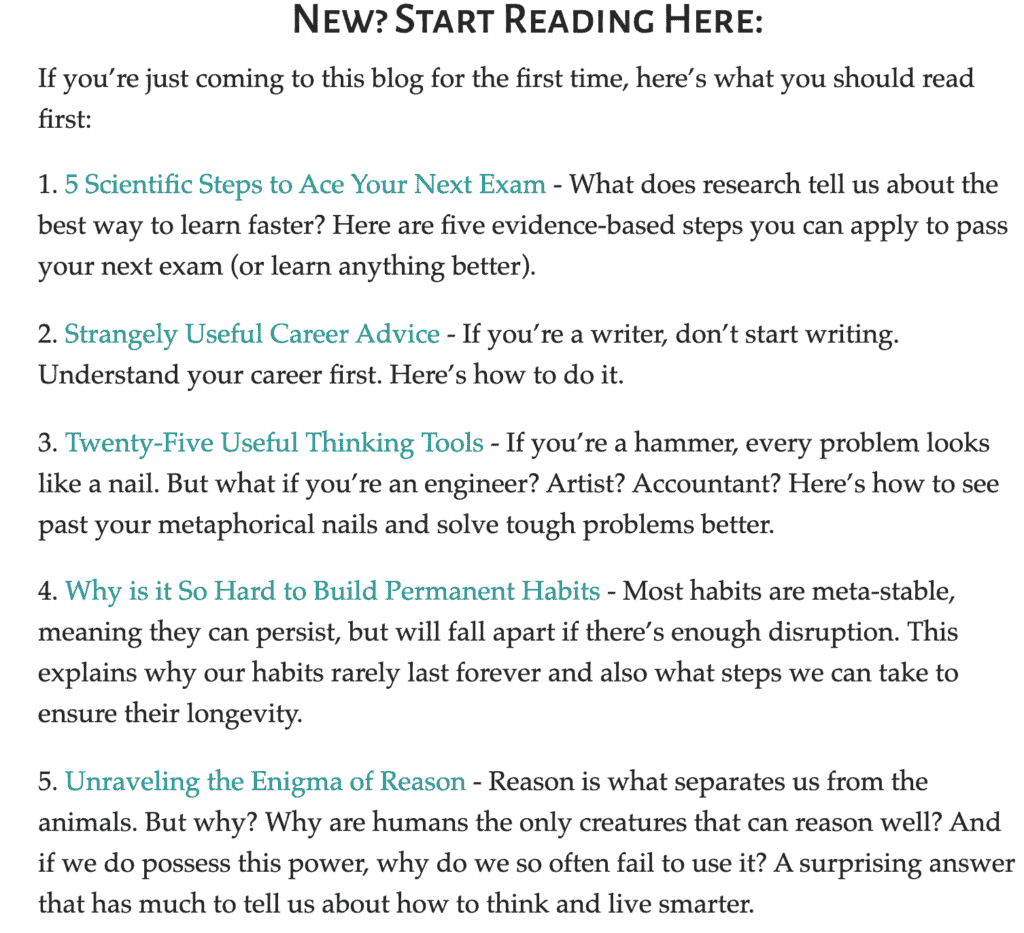 New? You can start reading here - with a bunch of links to various articles