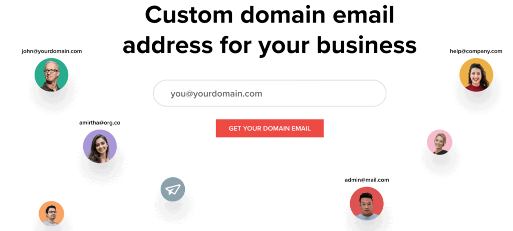 Custom domain email address for your business