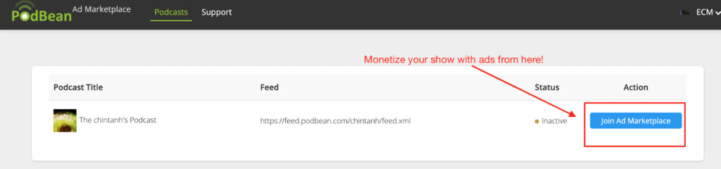 The monetization options available on Podbean for you podcast
