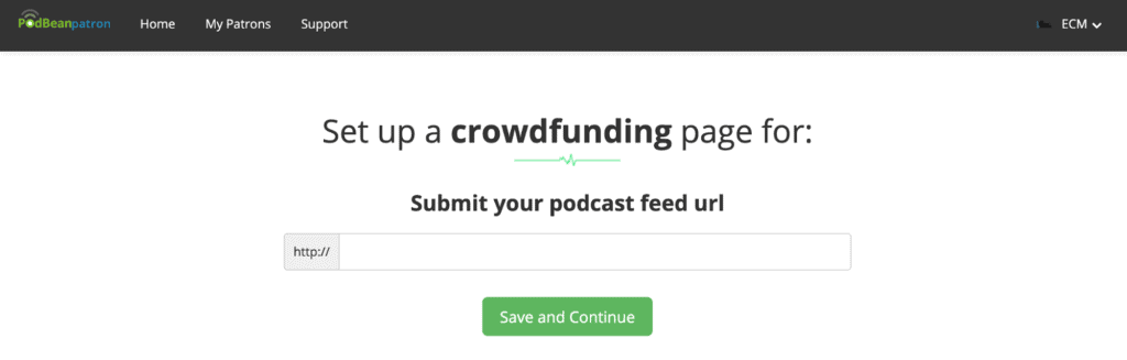 Setting up a crowdfunding page for your Podcast on Podbean