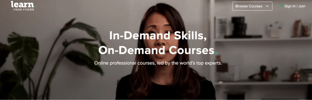 In demand skills, on demand courses