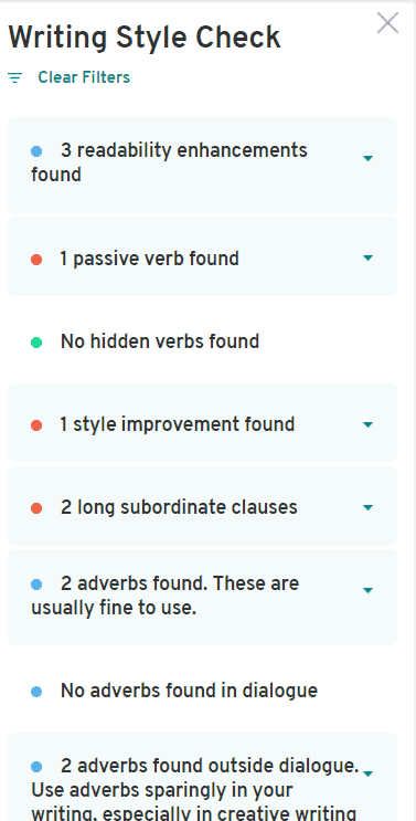 Writing Style check