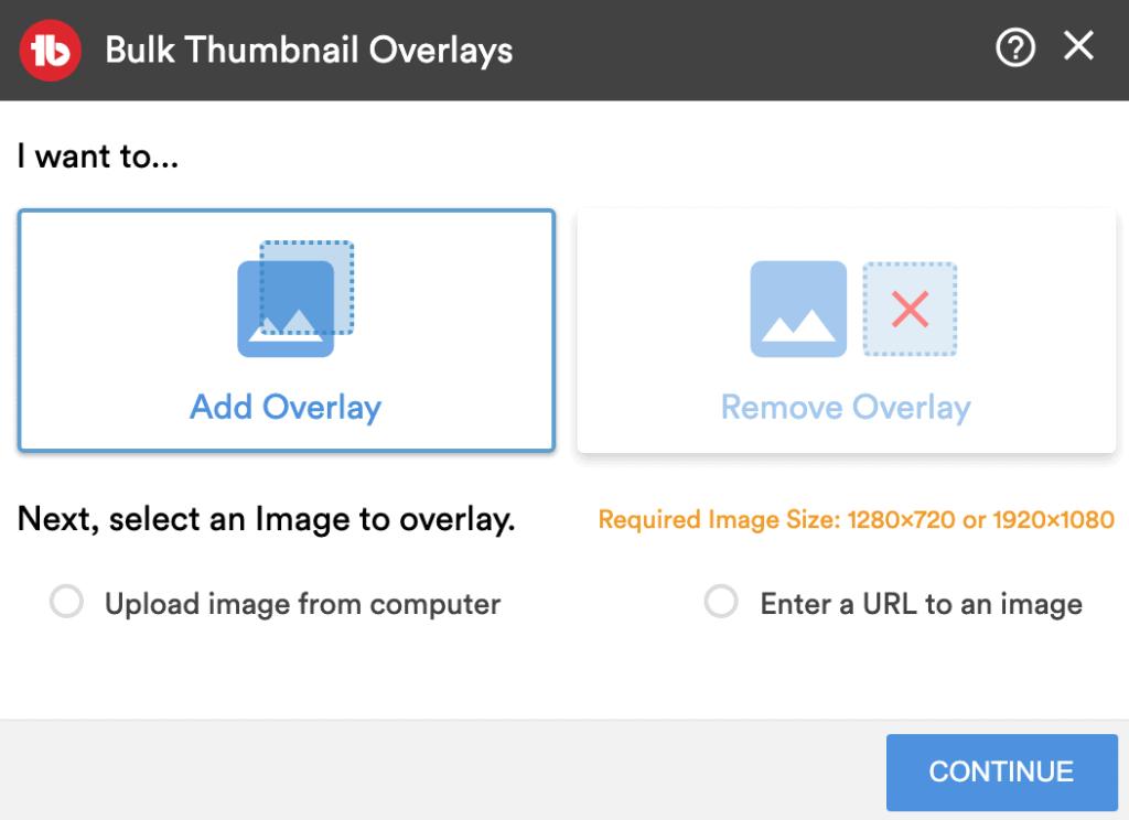 Bulk thumbnail overlays tubebuddy review