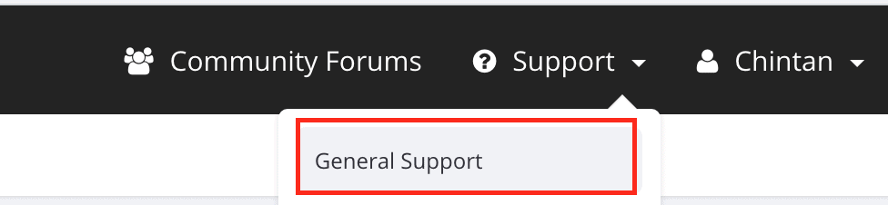 Support >> General Support