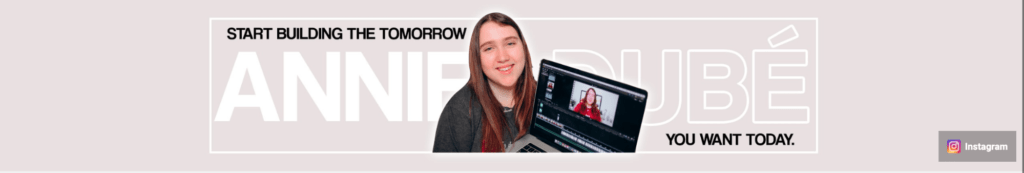 The banner on Anne Dube's channel.