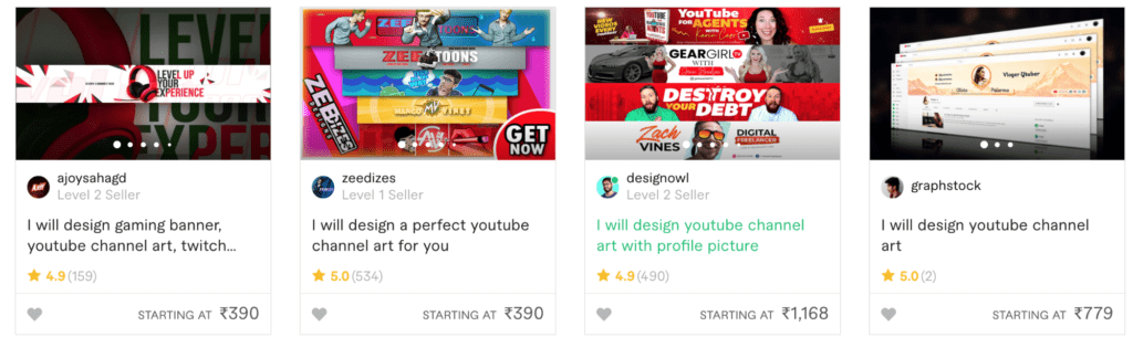 An image of the Fiverr marketplace.