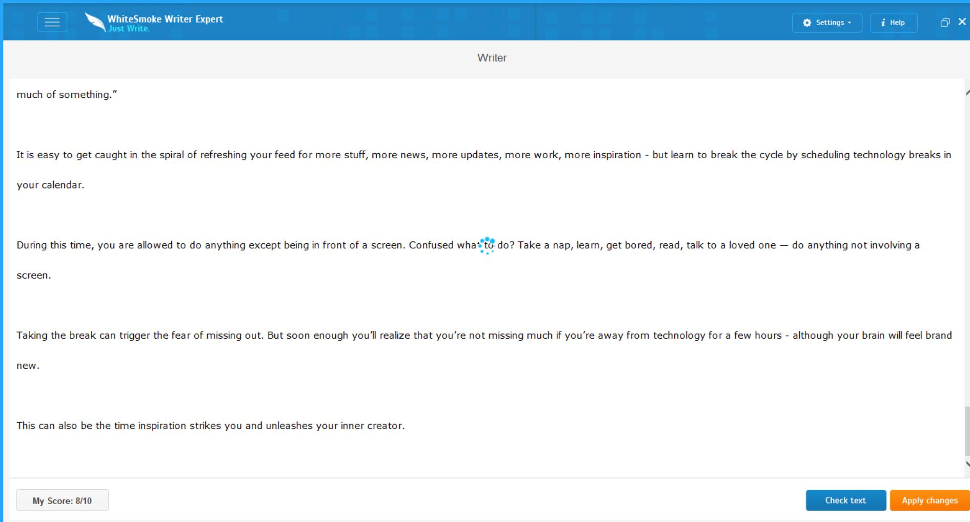 Whitesmoke review: Plagiarism Checker