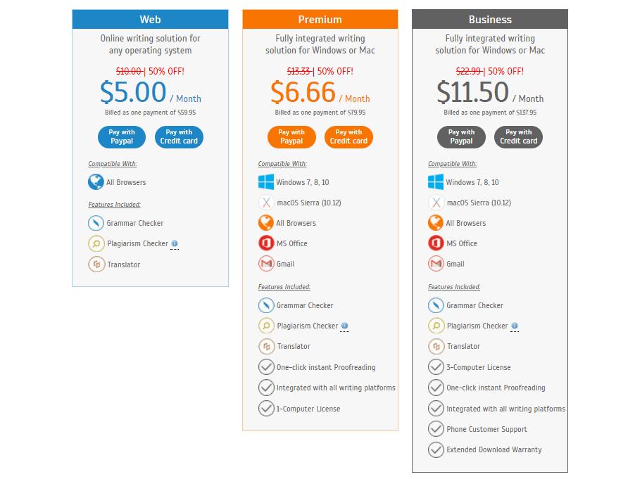 Annual price Plan on Whitesmoke