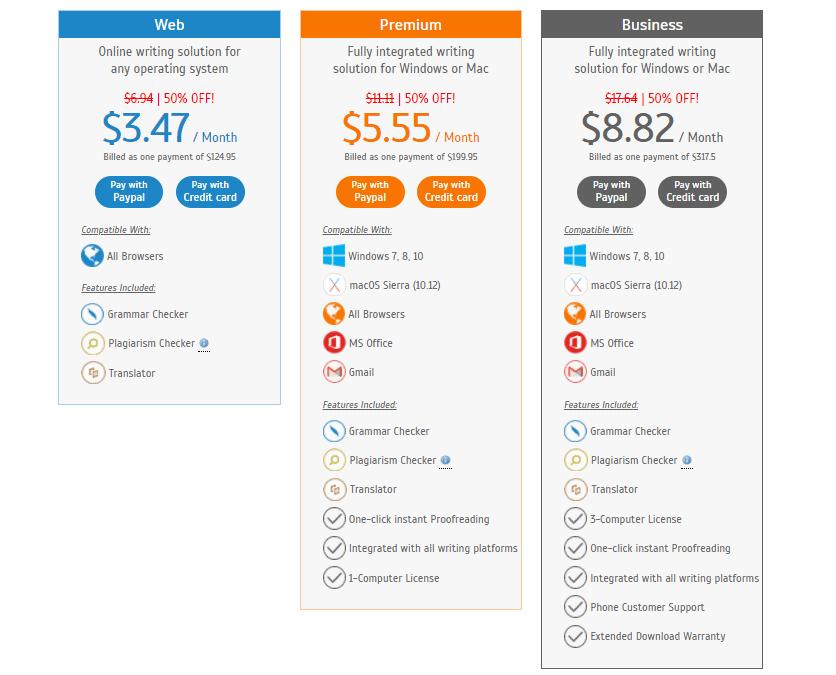 Three year price Plan on Whitesmoke