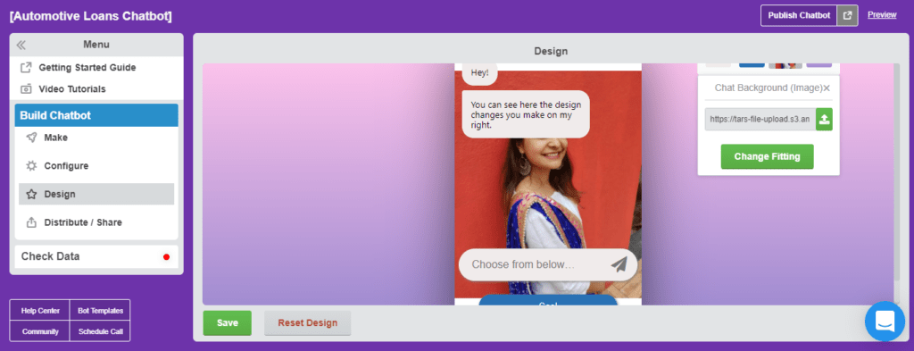 TARS For Building Conversational Landing Pages