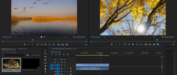 Adobe Premiere Video Editing Software
