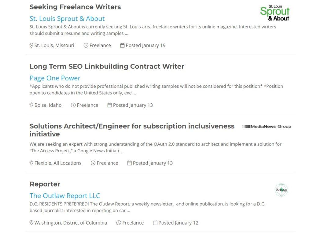 Journalism Jobs job page