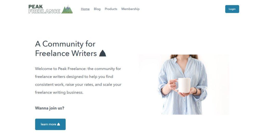 Peak Freelance job page on Freelance Writing Job Boards