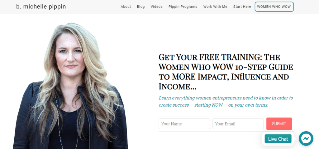 The homepage of B.Michelle Pippin where you can Get Paid To Write