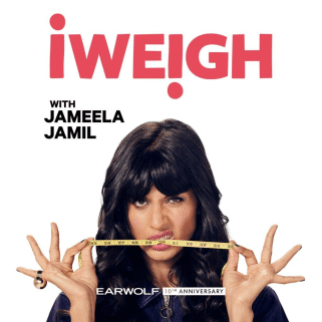 The cover of the podcast for iWeigh by Jameela Jamil