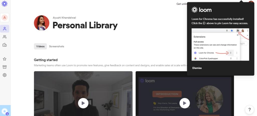 Loom Video Hosting Website