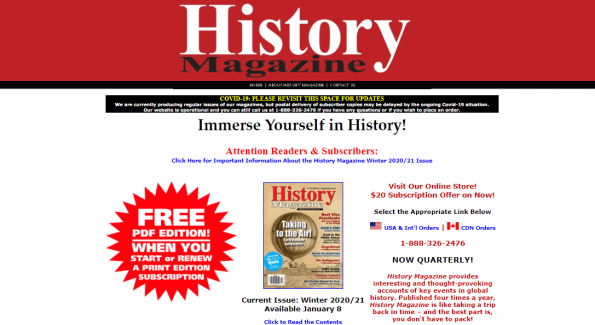Writers interested in history and culture of the world can contribute articles to History Magazine